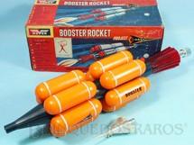 1. Brinquedos antigos - Hover - Nave Espacial Booster Rocket com 42,00 cm de comprimento Nasa Década de 1970