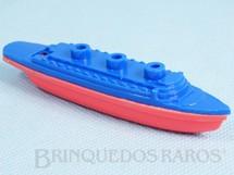 1. Brinquedos antigos - Mueller e Cia - Navio Apito com 10,00 cm de comprimento Década de 1960