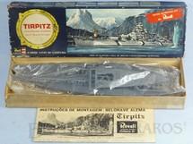 1. Brinquedos antigos - Revell - Navio Couraçado Tirptz caixa dura Ano 1964