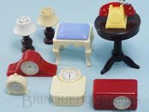 1. Brinquedos antigos - Renwal - Objetos diversos para decoração de Casa de Bonecas Década de 1950 Preço por unidade