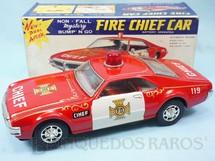 1. Brinquedos antigos - Taiyo - Oldsmobile Toronado Fire Chief com 25,00 cm de comprimento Década de 1970