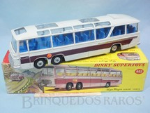 1. Brinquedos antigos - Dinky Toys - Ônibus Bedford Vega Major Luxury Coach com Pisca Pisca operacional 24,00 cm de comprimento Ano 1972