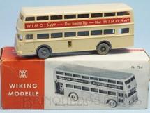 1. Brinquedos antigos - Wiking - Onibus Berliner Doppeldeck Bus Ano 1963