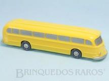 1. Brinquedos antigos - Wiking - Ônibus Mercedes Benz 6600 amarelo com Janelas Sólidas pintadas Década de 1950