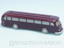 1. Brinquedos antigos - Wiking - Ônibus Mercedes Benz 6600 vermelho escuro com Janelas Sólidas pintadas Década de 1950
