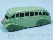 1. Brinquedos antigos - Dinky Toys - Ônibus Streamline Bus verde Ano 1935 a 1940