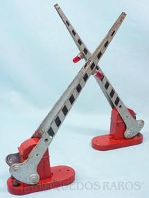 1. Brinquedos antigos - Lionel - Par de Cancelas 152 Automatic Crossing Gate Ano 1945 a 1958