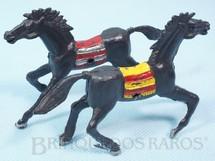 Brinquedos Antigos - Casablanca e Gulliver - Par de Cavalos índio pretos com furo lateral para Carroças