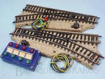 1. Brinquedos antigos - Marklin - Par de desvios Elétricos Série M com chave de comando Década de 1960