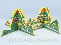 Brinquedos Antigos - Estrela - Par de Montanhas Ornamento para pistas de Autorama HO Modelo Rallye com cenas da Serra da Via Anchieta Anos 1969 a 1973