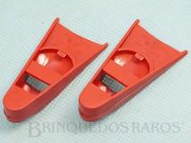 Brinquedos Antigos - Estrela - Par de Pés de Pato vermelhos Aventura Ameaça Submarina Ano 1979