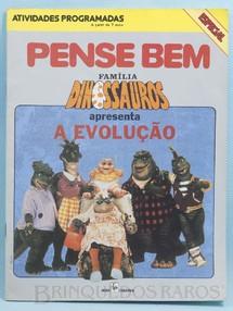 Brinquedos Antigos - Editora Abril  - Pense Bem Caderno de atividades programadas Família Dinossauros apresenta A Evolução Década de 1990