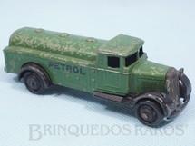 1. Brinquedos antigos - Dinky Toys - Caminhão Tanque Petrol Tanker verde ano 1934 a 1937