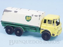 Brinquedos Antigos - Matchbox - Petrol Tanker black plastic Regular Wheels