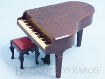 1. Brinquedos antigos - Renwal - Piano meia cauda e banqueta para Casa de Bonecas Década de 1950