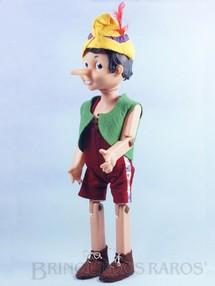 1. Brinquedos antigos - Atma - Pinóquio com Dispositivo de fala à pilha 55,00 cm de altura Roupas de feltro Década de 1960
