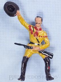 Brinquedos Antigos - Casablanca e Gulliver - Pioneiro montado a cavalo S�rie Plan�cie Selvagem Ano 1973
