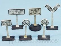 Brinquedos Antigos - Lionel - Placas de sinalização avulsas 309 Yard Sign Set Ano 1950 a 1959 Preço por unidade
