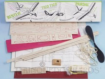 Brinquedos Antigos - Aero-Brás - Avião Bentevi de madeira balsa entelada com 57,00 cm de envergadura 100% completo perfeito estado Década de 1990