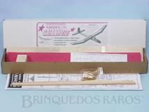 Brinquedos Antigos - Aero-Brás - Planador Gafanhoto de madeira balsa entelada com 83,00 cm de envergadura 100% completo perfeito estado Década de 1990