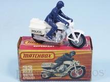Brinquedos Antigos - Matchbox - Police Honda 750