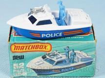 Brinquedos Antigos - Matchbox - Police Launch Superfast