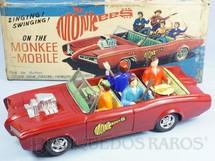1. Brinquedos antigos - Aoshin - Pontiac GTO dos Monkees Monkeemobile com 30,00 cm de comprimento Dispositivo à pilha que toca música do grupo Década de 1960