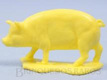 1. Brinquedos antigos - Casablanca e Gulliver - Porco de plástico amarelo Série Fazendinha Década de 1970