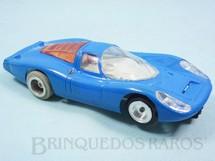 1. Brinquedos antigos - Estrela - Porsche 917 GT azul Chassi de Alumínio basculante Ano 1970