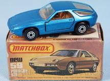 Brinquedos Antigos - Matchbox - Porsche 928 Superfast azul metálico