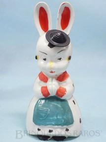 1. Brinquedos antigos - Balila - Professora Coelha do Conjunto Escolinha do Professor Coelho com 16,00 cm de altura Coleção Carlos Augusto Década de 1960