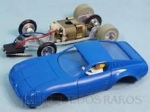 1. Brinquedos antigos - Estrela - Puma 1600 GT azul com Chassi de alumínio basculante Ano 1969