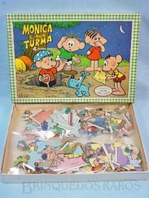 1. Brinquedos antigos - Coluna - Quebra Cabeça Mônica e sua Turma com 4 desenhos de Mauricio de Sousa Década de 1970