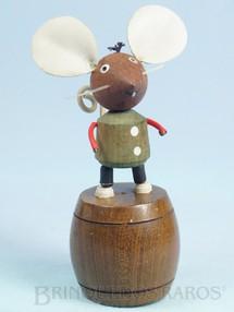 Brinquedos Antigos - Sem identificação - Ratinho de mola com 14,00 cm de altura Década de 1960