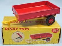 1. Brinquedos antigos - Dinky Toys - Reboque Weeks Farm Tipping Trailer Ano 1961 a 1970