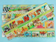 1. Brinquedos antigos - A.F. - Régua de 25,00 cm Figuras com impressão de movimento Diversos temas Preço por unidade Década de 1970
