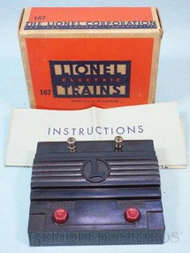 1. Brinquedos antigos - Lionel - Reversor de marcha e Controle de Apito 167 Whistle Controller Ano 1940 a 1950
