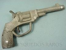 1. Brinquedos antigos - Alumínio Fulgor S.A. - Revolver de Espoleta com 14,00 cm de comprimento Década de 1950