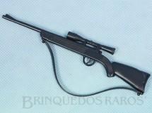 Brinquedos Antigos - Estrela - Rifle preto Alça de Borracha Anos 1978 a 1981 1995 e 2000