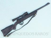 1. Brinquedos antigos - Estrela - Rifle preto Primeira Série Alça de elástico Ano 1977