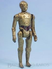 Brinquedos Antigos - Model Trem - Robot C3PO Série Aventura na Galáxia Guerra nas Estrelas Star Wars Ano 1983