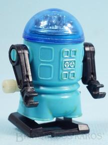 1. Brinquedos antigos - Trol - Robozinho Roby Robot Trol azul com 5,00 cm de altura Década de 1980