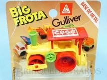 1. Brinquedos antigos - Casablanca e Gulliver - Rolo Compactador Case Big Frota Série Construções Década de 1980 Blister aberto