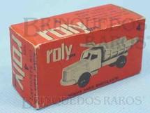 1. Brinquedos antigos - Roly Toys - Roly Toys Caixa Caminhão Scania Vabis Basculante Ano 1965