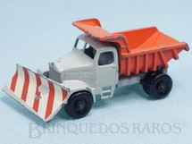 Brinquedos Antigos - Matchbox - Scammell Mountainer Snowplow black plastic Regular Wheels
