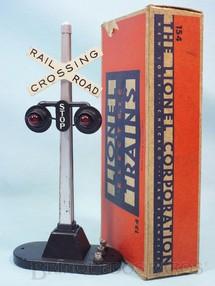 1. Brinquedos antigos - Lionel - Sinal 154 Automatic Highway Signal Ano 1945 a 1969