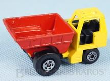 Brinquedos Antigos - Matchbox - Site Dumper Superfast caçamba vermelha