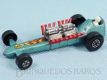 Brinquedos Antigos - Matchbox - Slingshot Dragster Superfast azul metálico