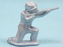 1. Brinquedos antigos - Balila - Soldado ajoelhado atirando com Fuzil 5,50 cm de altura Plástico alumínio Década de 1960