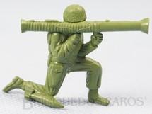 1. Brinquedos antigos - M.P.C. - Soldado americano com Bazooka Figura Matriz de soldado do Brinde Toddy Década de 1960